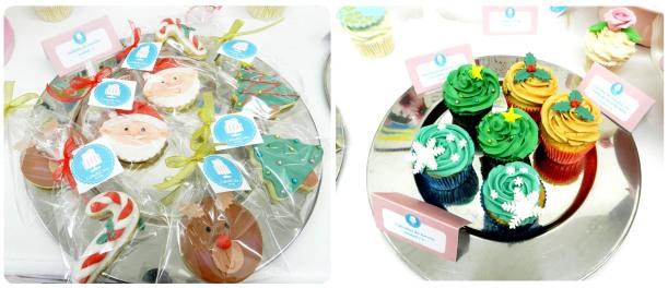 Galletas decoradas y cupcakes
